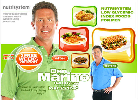 ... (go Browns!), no wonder Dan Marino thinks NutriSystem tastes good